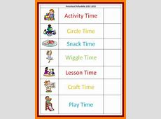 Visual Schedule Template fee schedule template