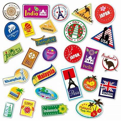 Stickers Travel Luggage Suitcase