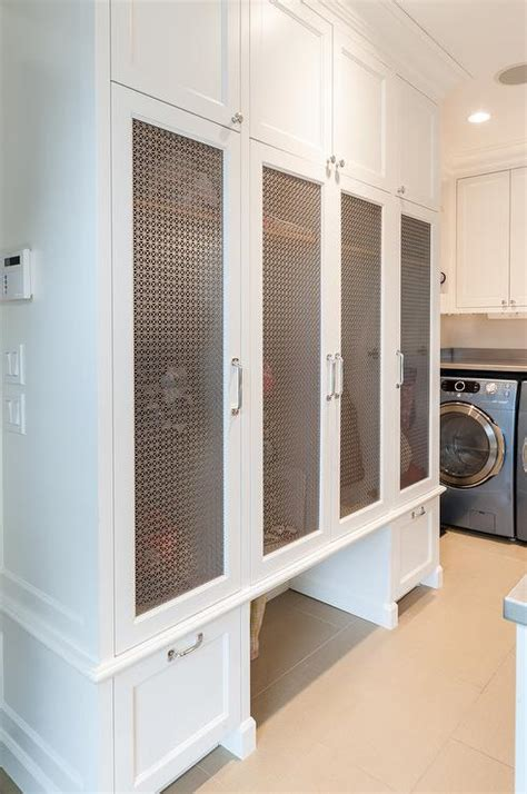 laundry room  mudroom combo  white  black