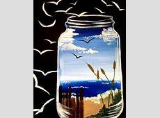 Paint Night Ocean In A Jar at Yoga Art Space, Albuquerque