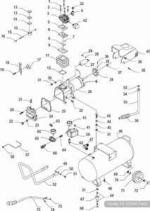Husky 8 Gallon Portable Air Compressor  Ta-2530b