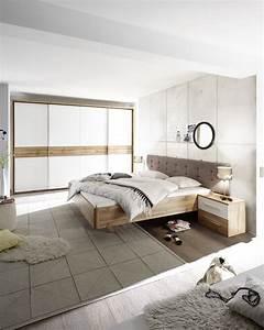 Schlafzimmer Komplett Weiß : schlafzimmer komplett set 5 tlg bergamo bett 180 kleiderschrank wei wildeiche ebay ~ Orissabook.com Haus und Dekorationen