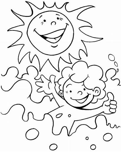 Coloring Sunny Pages Bright Summer Heat