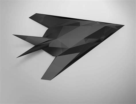printable paper craft model    nighthawk fighter jet