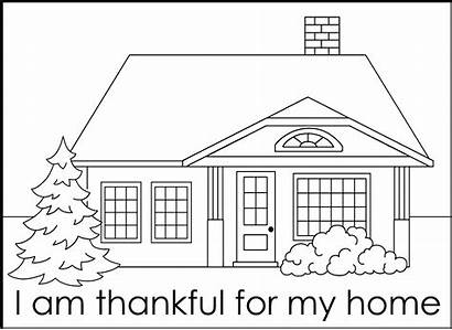 Coloring Pages Thankful Am Thanksgiving November Fhe
