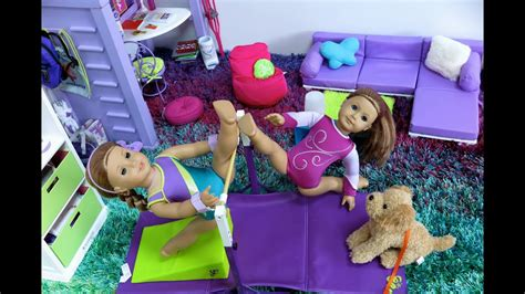 american girl mckenna   school gym room youtube