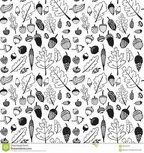 Hand Drawn Doodle Seamless Acorn Pattern Stock Vector ...