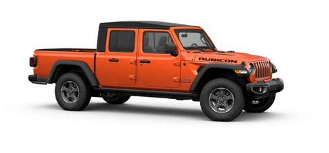 jeep gladiator rubicon  door wd pickup colorsoptionsbuild