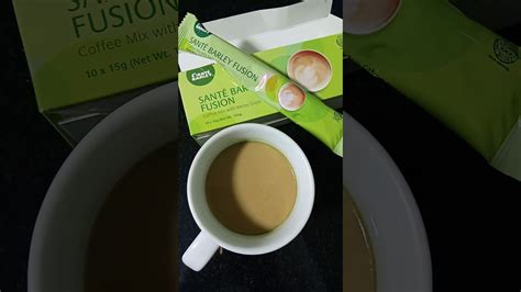Santé fusion coffee brings you a 15gram velvety combination of organic barley grass powder and meticulously blended for the health conscious and the café connoisseur, santé fusion coffee will. Fusion Coffee with Sante - YouTube