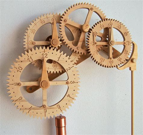 wooden clock patterns 171 free wooden gear clock plans from hawaii by clayton boyer