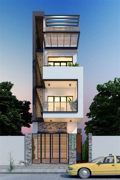 townhouse plans narrow lot  meter samphoas house plan
