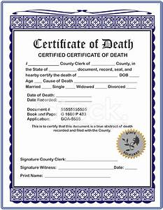 blank certificate of death stock photos freeimagescom With fake death certificate template