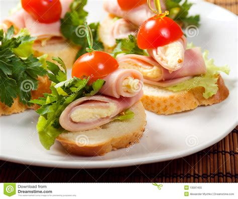 ham canapes ham canape royalty free stock photo image 13597455