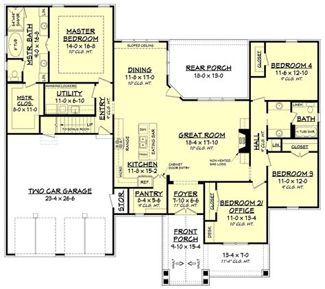 traditional style house plan    sq ft  bed  bath