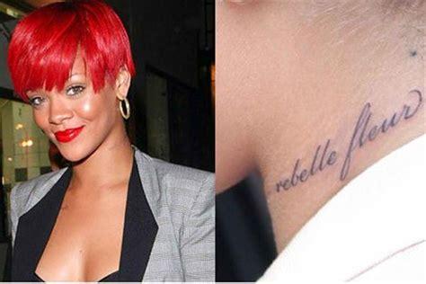 rihanna tattoos   explanation