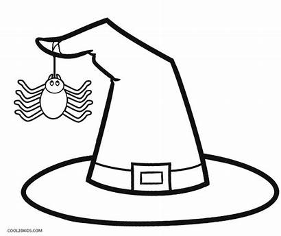 Coloring Witch Hat Printable Cool2bkids