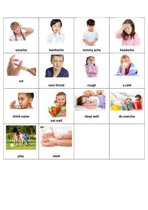 printable health activities health worksheets