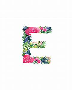 watercolor alphabet letter e print initial e watercolor With alphabet letter art prints