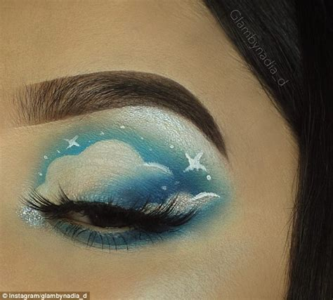 cloud eyeshadow makeup trend sweeps instagram daily mail