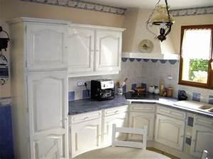 Meuble De Cuisine Blanc Laqué : repeindre meuble de cuisine en blanc laque atelier retouche paris ~ Teatrodelosmanantiales.com Idées de Décoration