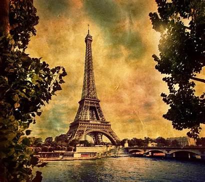 Eiffel Tower Paris Retro Wallpapers Brown Desktop