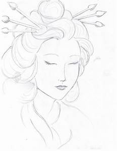 Drawings Of Geisha Geisha Face Drawing Geisha Face By