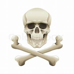 Skull And Crossbones Isolated On White
