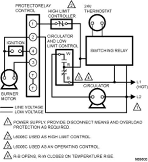 high or low limit aquastat controller l4006a2114 b