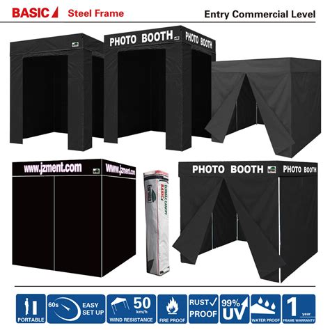 pop  fortable black photo booth franchise canopy tent wsides party wedding ebay