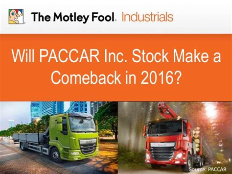 paccar inc will paccar inc stock make a comeback in 2016