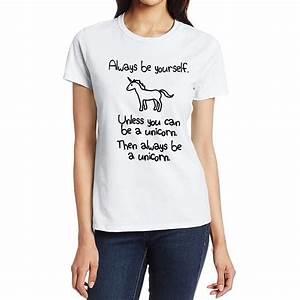 2017 T-Shirt Women Fashion Cartoon Unicorn Printed ...