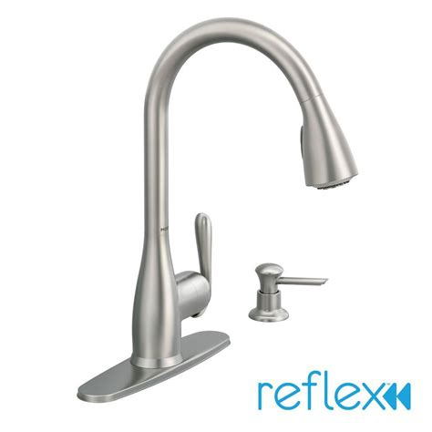 pictures of kitchen faucets moen 87877srs haysfield pull sprayer kitchen faucet