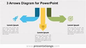 3 Arrows Diagram For Powerpoint