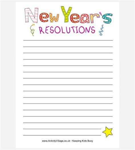 year resolution templates design ideas