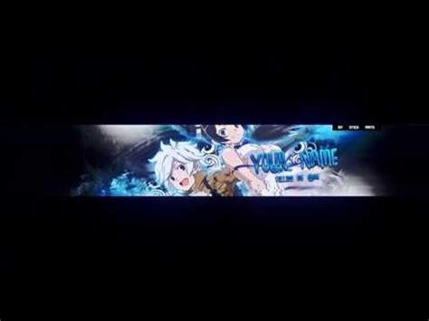 Anime Channel Banner Template Free 3d Anime Banner Template Made By