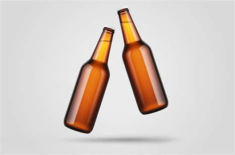 The best source of free bottle mockup psd templates for your project. Free Levitating Beer Bottle Mockup | Mockuptree