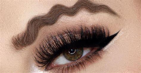 Новый модный тренд в макияже волнистые губы и брови 18 фото