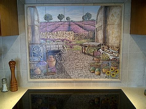 quot kittle s lavender field view quot backsplash tile