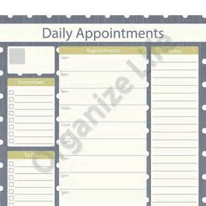 Printable Daily Appointment Calendar Template