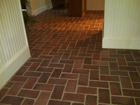 brick floor tile faux saltillo tile tile design ideas