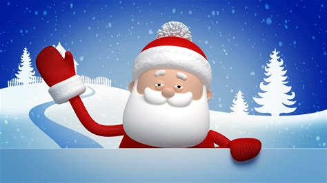 Animated Santa Wallpaper - santa claus salutation animated greeting card