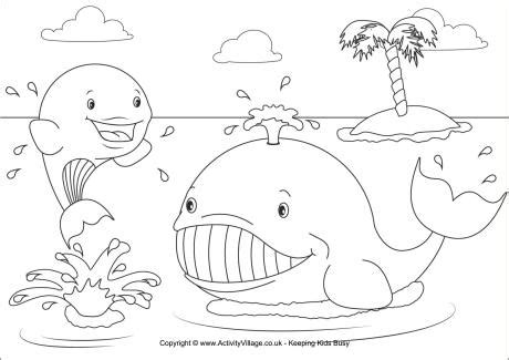 whales colouring page