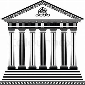Greek temple stencil second variant | Stock Vector | Colourbox