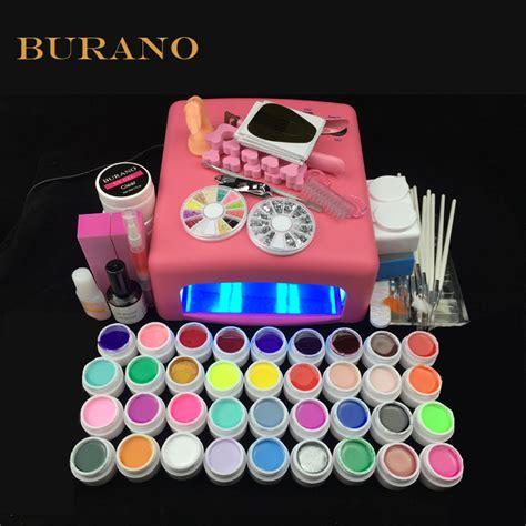 new 2016 professional gel 36 colors uv gel nail tools set nail kit manicure set 008 pink