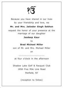 wedding program printing sikh wedding invitation wordings sikh wedding wordings