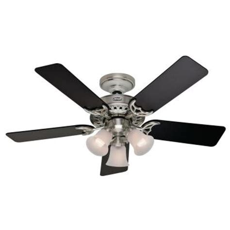 ceiling fans home depot stonington 46 in brushed nickel ceiling fan 21362
