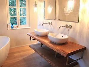 Waschtisch Holz Rustikal : konsole waschtisch waschtischplatte massiv eiche rustikal auf ma waschtischkonsole holzbohle ~ Frokenaadalensverden.com Haus und Dekorationen
