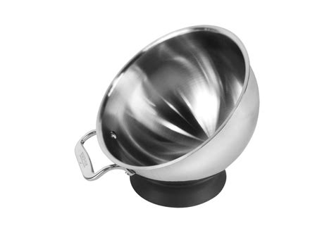 clad spherical mixing bowl  base  quart cutlery