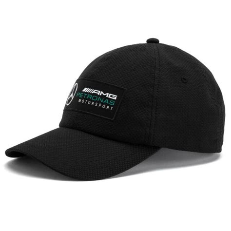 The bold mercedes amg petronas motorsport logo and the bright silver star on the front add a burst of style, while the puma cat logo on the brim. PUMA Black MERCEDES AMG Petronas Motorsport F1 Baseball Cap Hat One Size for sale online | eBay