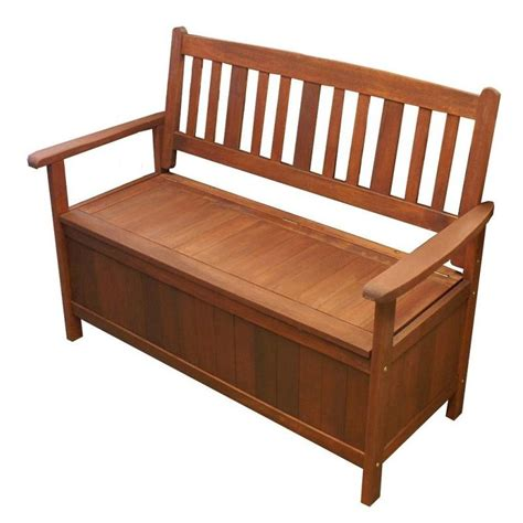 outdoor shorea hardwood wooden storage bench seat buy
